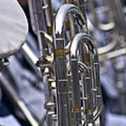 Blue Band Brass Art Print