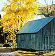 Blue Barn Art Print