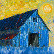 Blue Barn Number One Art Print
