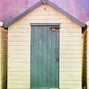 Blue Beach Hut Art Print