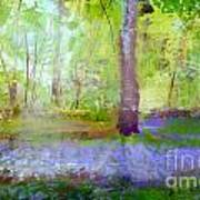 Blue Bells In The Wood Painting Number 1 Art Print