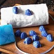 Blue Berries Mini Soaps Art Print