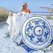 Blue Berry Beach  Art Print