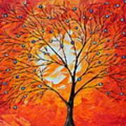 Blue Berry Tree Art Print