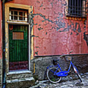 Blue Bicycle Monterosso Italy Dsc02592  Art Print