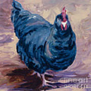 Blue Biddy Art Print