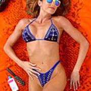 Blue Bikini 16-2p Art Print