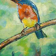 Blue Bird 2 Art Print