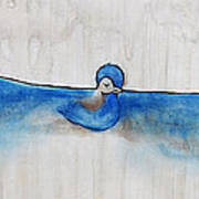 Blue Bird Of Happiness Art Print