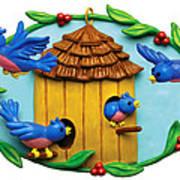 Blue Birds Fly Home Art Print