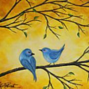 Blue Birds Art Print