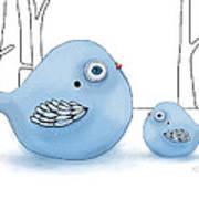 Blue Birds Of Happiness Art Print