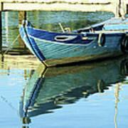 Blue Boat 01 Art Print