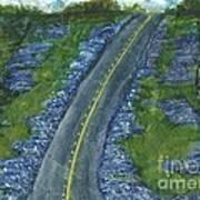 Blue Bonnet Road Art Print