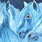Blue Boyz Art Print