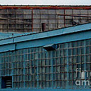 Blue Building Windows Art Print