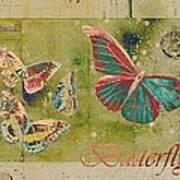 Blue Butterfly Etc - S55ct01 Art Print