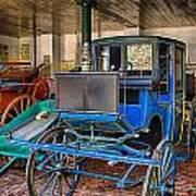Blue Carriage Art Print