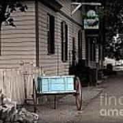 Blue Cart Art Print