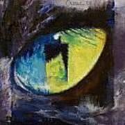 Blue Cat Eye Art Print