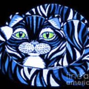 Blue Cat Green Eyes Art Print