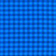 Blue Checkered Tablecloth Fabric Background Art Print