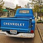 Blue Chevy Tailgate Art Print