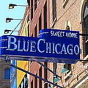 Blue Chicago Club Art Print