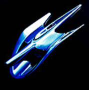 Blue Chrome Jet Art Print by Phil 'motography' Clark
