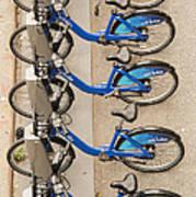 Blue City Bikes Art Print