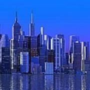 Chicago Blue City Art Print