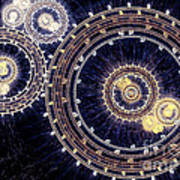 Blue Clockwork Art Print