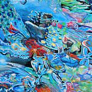 Blue Confusion Art Print
