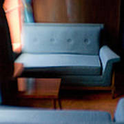 Blue Couch Starlite Lounge Art Print