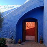 Blue Courtyard Art Print