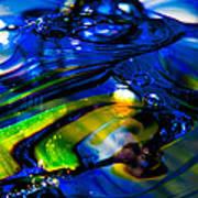 Blue Crystal Art Print