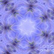 Blue Crystallized 1  Art Print