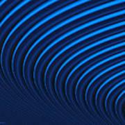 Blue Curves Art Print