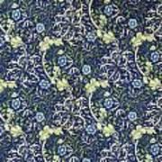 Blue Daisies Design Art Print by William Morris