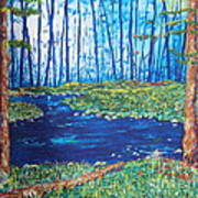 Blue Day Stream Art Print