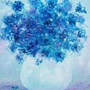 Blue Delphiniums Art Print