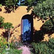 Blue Door At Old Mesilla Art Print