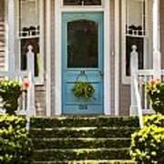 Blue Door  Ivy Stairs Art Print