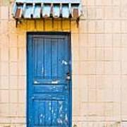 Blue Door With A Lock Art Print