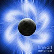 Blue Eclipse Art Print