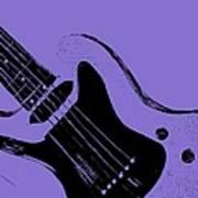 Blue Electric Guitar Art Print