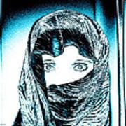 Blue Eye Lady Art Print