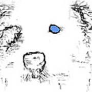 Blue Eyed Pup Art Print