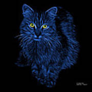 Blue Feral Cat - 9905 F Art Print