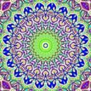 Blue Flares Art Print